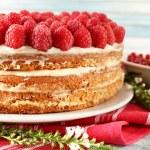 Tasty cake with fresh berries — Stock Photo #49999227