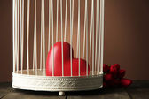 Heart in decorative cage — Stock Photo