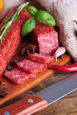 Tasty salami sausage — Stock Photo