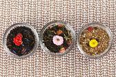 Asortyment suchej herbaty — Zdjęcie stockowe