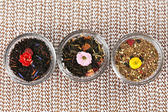 Assortment of dry tea — Foto Stock