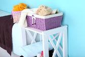Shelves in bathroom  — Stok fotoğraf