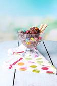 čokoládová zmrzlina — Stock fotografie