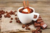 Cup of hot chocolate — Stock Photo
