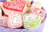 Tasty Turkish delight in present box — Stock Photo