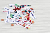 Prescription drug lottery, close-up — ストック写真