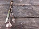 Old vintage silverware — Stock Photo