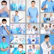 Medical workers collage — Stock Photo #50213153