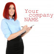 Young beautiful business woman — Stock Photo #50216923