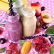 Delicious smoothie on table — Stock Photo #50271197