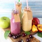 Delicious smoothie on table — Stock Photo #50271199