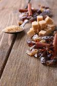 Brown sugar cubes — Stockfoto
