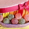 Present box with sweets — Stock Photo #50324605