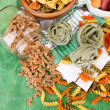 Variety of colorful pasta — Stock Photo #50327911