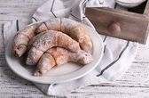 Bagels with sugar powder — Stock Photo