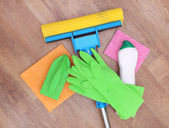 Cleaning products and tools — Zdjęcie stockowe
