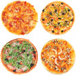 Collage of different pizza isolated on white — Stock Photo #50424887