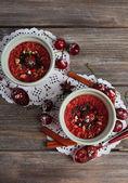 Tasty cherry dessert — Foto Stock