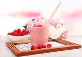 Milkshake on table — Foto Stock