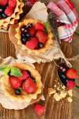 Tasty tartlets with berries — Foto Stock