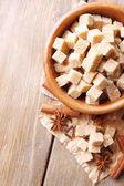Brown sugar, star anise and cinnamon sticks — Stockfoto