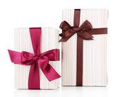 Cajas de regalo en blanco — Foto de Stock