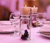 Restaurant table setting — Stock Photo