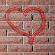 Graffiti heart on brick wall — Stock Photo #50579783