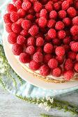 Tasty cake with fresh berries — Stockfoto