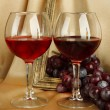 Composition of frame,wine and grapes on bright background — Stock Photo #50799063