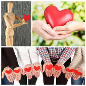 Different hearts Collage — Stock Photo