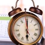 Alarm clock  and calendar close-up — Stock Photo #50800031
