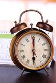 Alarm clock  and calendar close-up — Foto de Stock