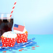 American patriotic holiday cupcakes — Stock Photo #50820545