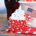 amerikansk helgdag cupcake — Stockfoto #50820847