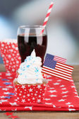 American holiday cupcake — Stock Photo
