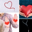 Collage of pictures with different hearts — Stock Photo #50856955