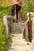 Old retro wooden bridge — Stock Photo