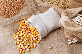 Cereals in sacks — Stock Photo