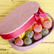 Present box with sweets — Stock Photo #51172161