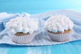 Tasty cupcake on table, close up — Stock Photo
