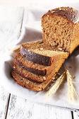 Fresh bread on table — Stock Photo