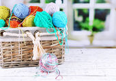 Multicoloured knitting yarn — Stock Photo