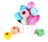 Clews of thread for hook — Stock Photo