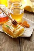 Färsk honung — Stockfoto