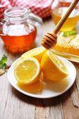 Zitrone und Honig — Stockfoto