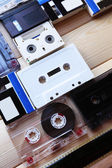 Retro audio tapes — Stock Photo