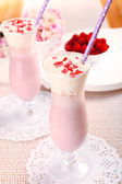Delicious tasty milkshake — Stock Photo