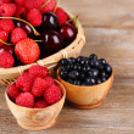 Ripe Berries in basket — Stock Photo #51231167