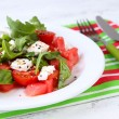 Salad with watermelon and tomatoes with feta — Stock Photo #51236311